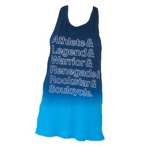Soulcycle Blue Ombre Athlete Warrior Tank Top